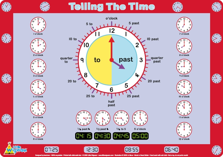 Image result for telling the time for children